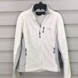 Mountain Hard Wear Off White / Gray Fleece Jacket